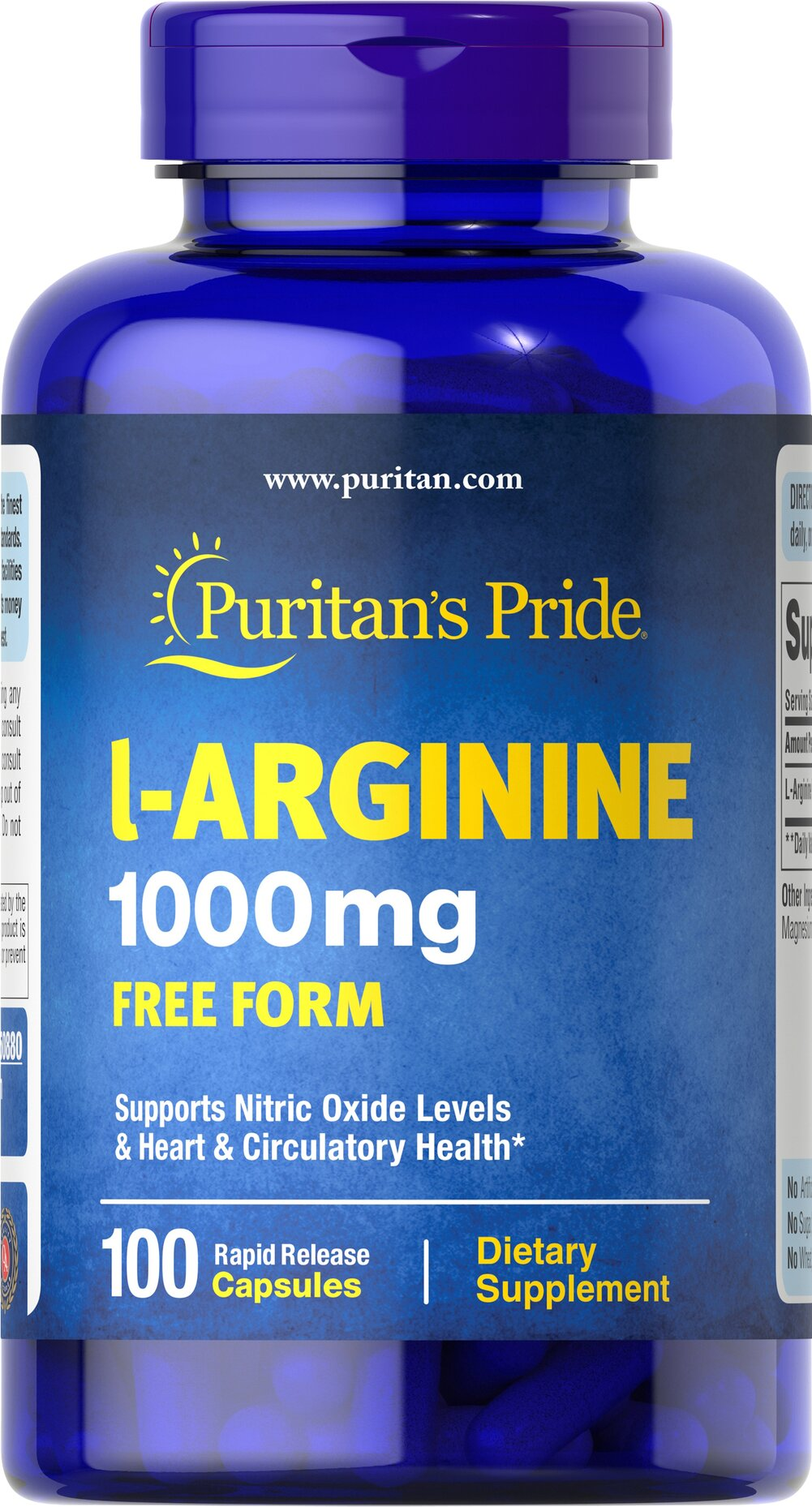 L-Arginine 1000 mg <p>Arginine is one of 20 amino acids, the building blocks of protein.** Arginine can serve as a source of energy, and is involved in various pathways throughout the body.** Arginine supports the effect of exercise and is one of the most important amino acids involved in immune function.** Adults can take one caplet daily. </p> 100 Capsules 1000 mg $23.99