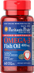 "Omega-3 Fish Oil Coated Microsoftgels 400 mg (300 mg Active Omega-3) <p>Enhanced with 280 mg of active EPA and DHA per serving.</p><p>Purified to eliminate mercury.</p><p>Supports heart health.**</p><p>Ester-Omega® Fish Oil provides 300 mg of total Omega-3 fatty acids including 280mg of EPA and DHA. Omega-3 fatty acids are ""good fats"" which help to balance the ""bad fats"" in your diet. Fatty acids play a role in providing an energy source for the bod"