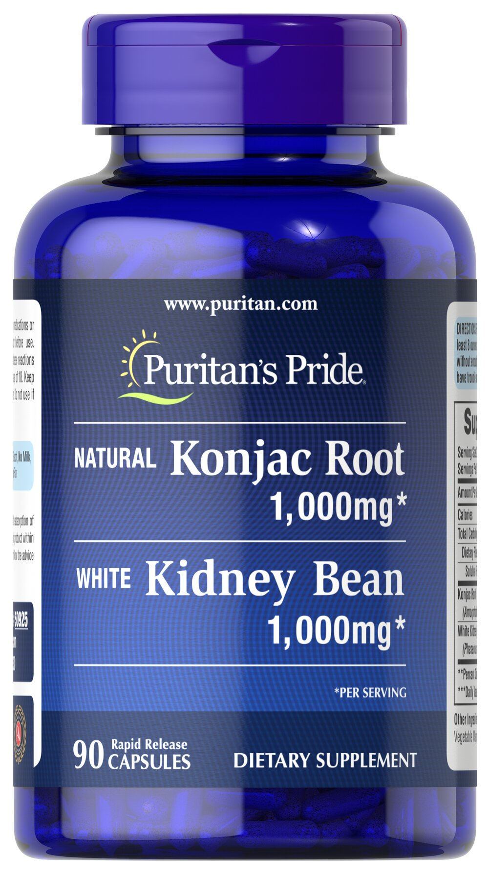 Konjac Root and White Kidney Bean  90 Capsules 500 mg $16.99