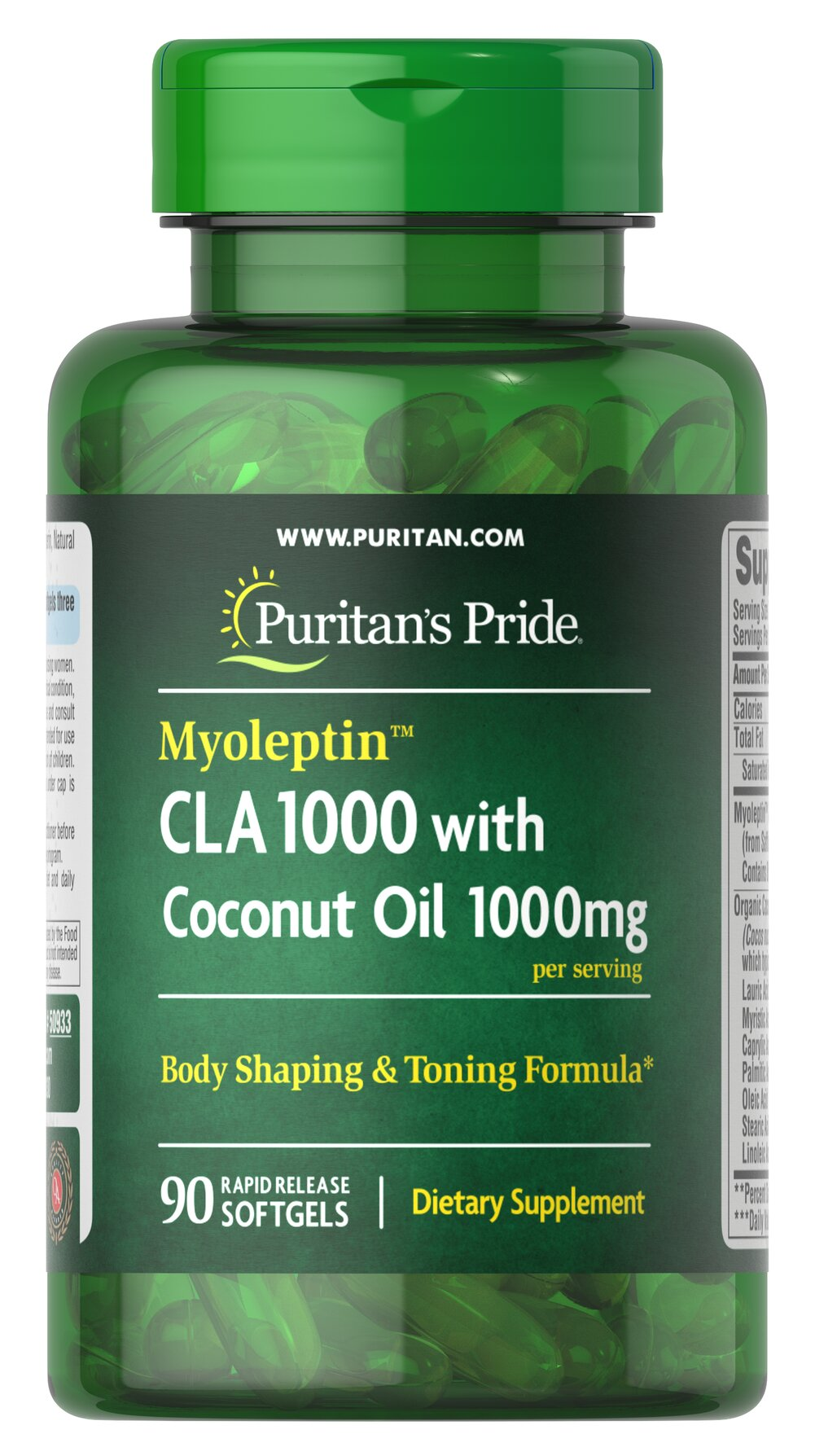 "Myoleptin™ CLA 1000 with Coconut Oil <ul><li><span style=""font-family:'Arial','sans-serif';color:#141414;"">Myoleptin™ CLA is a form of Conjugated Linoleic Acid produced from safflower oil</span><span style=""font-family:'Arial','sans-serif';"">.</span></li><li><span style=""font-family:'Arial','sans-serif';color:#141414;"">Supports a healthy body composition.**</span"