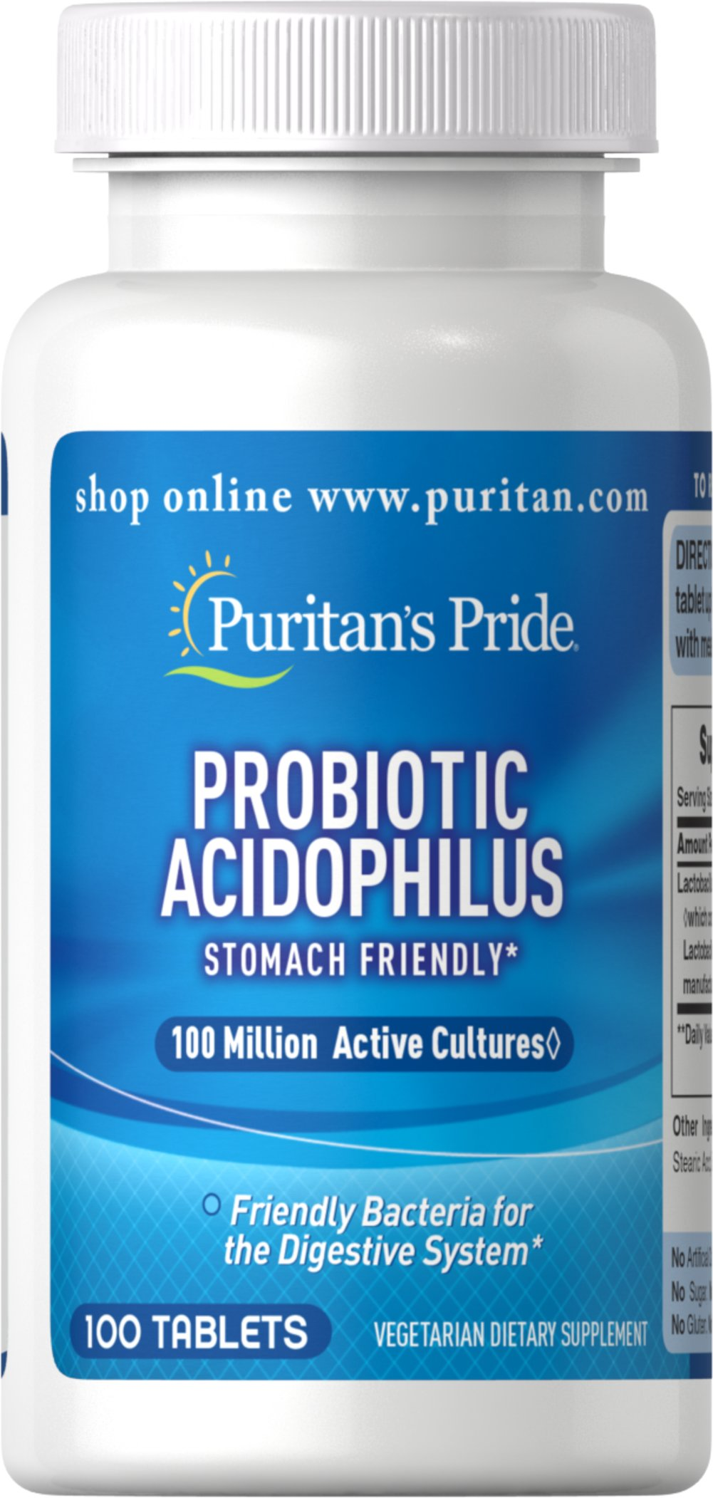 Probiotic Acidophilus <p>New small tablet</p><p>Stomach Friendly</p><p>Friendly bacteria for the Digestive System</p>  100 Tablets