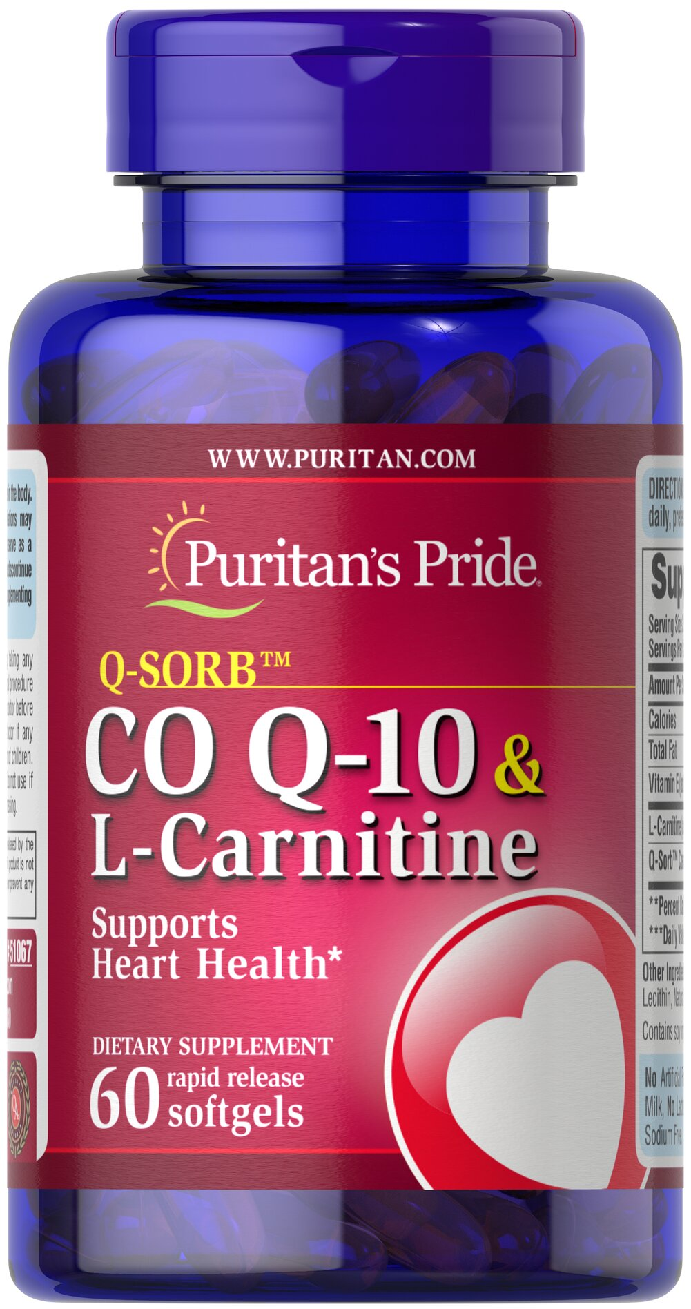 Co Q-10 30 mg plus L-Carnitine 250 mg <p>Provides powerful nutrients that support your heart**</p>  <p>Supports energy production**</p>  <p>Statin drugs can reduce Co Q-10 levels in the body, so taking Co Q-10 & L-Carnitine can replenish what Statin drugs can deplete++</p> </p><p>++Note: Co Q-10 is not intended to serve as a replacement for Statin therapy, nor should you discontinue taking any prescribed medications while supplementing with Co
