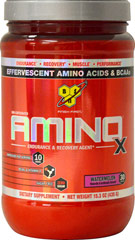 Amino X Watermelon <p><strong>From the Manufacturer's Label:</strong></p><p>Amino X is manufactured by BSN®.</p><p>Available in Fruit Punch and Watermelon flavors.</p> 15.3 oz Powder  $20.99