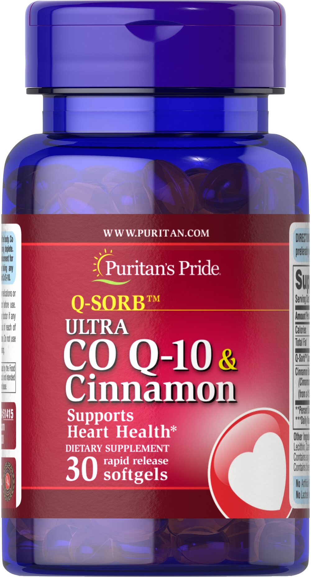 Co Q-10 & Cinnamon <p>What's better than two well-known ingredients for cardiovascular health in one advanced formula?** Cinnamon's positive effects on sugar metabolism can help support heart and circulatory health.** Co Q-10's capabilities contribute to a healthy heart and cardiovascular system.</p>  30 Rapid Release Softgels  $26.79