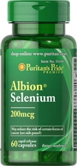 Selenium 200 mcg Albion® Chelate <p><span></span>Selenium is a potent antioxidant.**</p> <p><span></span>Selenium supports a healthy immune system.**</p> <p><span></span>One serving contains 200mcg.</p> <p><span></span>Rapid release capsules.</p> <p>Albion® Selenium is an essential trace mineral that plays many important roles in the body. Selenium is a potent antioxidant that helps to