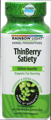 ThinBerry® Satiety <p><strong>From the Manufacturer's Label:</strong></p>Herbal IQ™ Guarantee<br />Our extracts, potencies and complementary nutrients are backed by the latest science. Extracts are identity-verified and purity-tested for optimal efficacy and safety.<br />Formulated by Christopher Hobbs PhD and produced in our GMP compliant USA-based facility.<br /><br />Natural Appetite Control and Weight Management with green Coffee Bean,