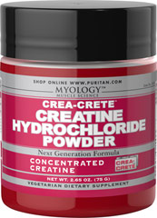 Crea-Crete™ Creatine Hydrochloride Powder <p><span></span>Concentrated Creatine.</p><p><span></span>Professional strength, next generation formula.</p><p><span></span>Supplies 750 milligrams of Creatine HCl per serving.</p><p><span></span>Vegetarian dietary supplement.</p><p>Myology™ Crea-Crete™ Creatine Hydrochloride Powder is the new generation in creatine supplements. Our specially concentrat