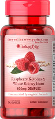 Raspberry Ketones and White Kidney Bean 600mg Complex <p>Contains 100mg of Raspberry Ketones and 500mg of White Kidney Beans in a concentrated synergistic formula</p><p>Our Raspberry Ketones are highly concentrated.</p><p>Our concentrated synergistic formula contains 100mg of Raspberry Ketones and 500mg of White Kidney Beans. Includes 60 rapid release capsules.</p> 60 Capsules 600 mg $13.39