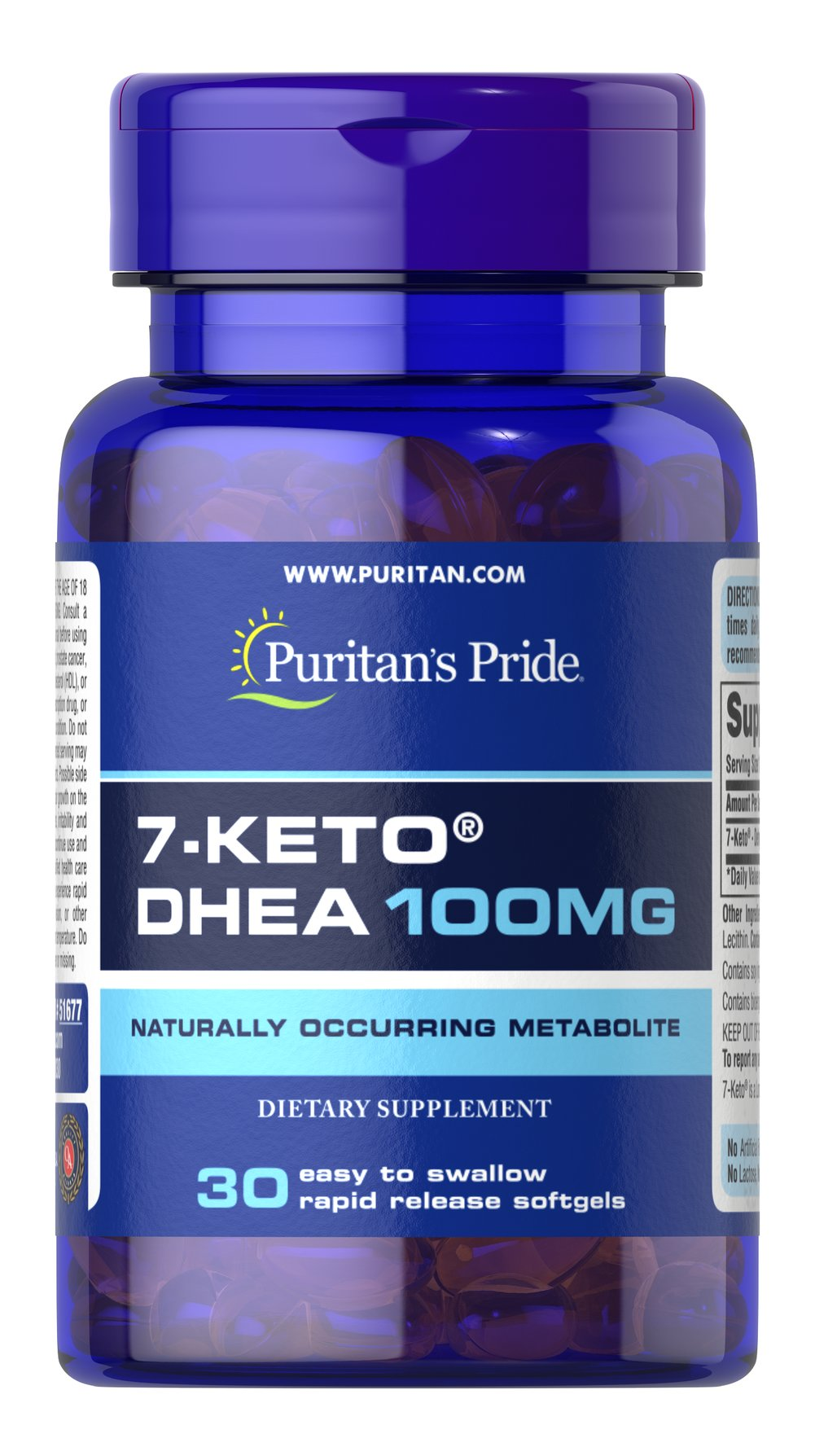 7-Keto® DHEA 100 mg <p>Naturally occurring metabolite.</p><p>100mg of DHEA in one softgel.</p><p>Rapid release.</p><p>7-Keto® is a naturally occurring metabolite of DHEA found in the body.  Levels of DHEA may decline with age, and 7-Keto® provides you with DHEA in an easy to swallow softgel. One serving of this dietary supplement provides 100mg of DHEA. Includes 30 rapid release softgels.</p> 30 Softgels 100 mg $28.79