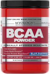 BCAA Blue Raspberry <p><strong>From the Manufacturer's Label: </strong></p><p>BCAAs may be the most important aminos for athletes and bodybuilders as they are directly involved in protein synthesis at the genetic level.** BCAAs can also be broken down and used as an energy source to fuel exercise as needed.** BCAA Powder supplies a precise, clinically studied ratio of Leucine, Valine and Isoleucine (45/30/25).</p><p>BCAA Powder can be taken after tra