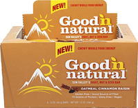 Good 'N Natural Oatmeal Cinnamon Raisin Bars <p>Good 'N Natural Oatmeal Cinnamon Raisin Bars--a uniquely delicious fruit, nut, and seed bar.</p><p>With Organic Rolled Oats, Diced Soynuts, Gluten Free Rolled Oats, Organic Maple Syrup, and more!</p><p>Vegan & Dairy Free</p> 6 Box  $12.99