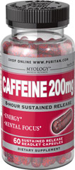 Caffeine 200 mg 8-Hour Sustained Release  60 Capsules 200 mg $5.99