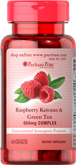 Raspberry Ketones & Green Tea Complex <p><span></span>Concentrated synergistic formula.</p><p><span></span>Comprised of 500mg Raspberry Ketones and 100mg Green Tea Extract.</p><p><span></span>Rapid release capsules.</p><p>Our Raspberry Ketones & Green Tea Complex is a concentrated synergistic formula.   The dietary supplement includes 500mg of raspberry ketones per serving. It also has 100mg of green tea ex