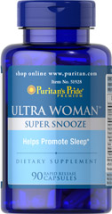 Ultra Woman™ Super Snooze <p>Ultra Woman™ Super Snooze helps promote sleep.**</p><p>5 mg Melatonin per rapid release  capsule</p>  90 Capsules  $12.99