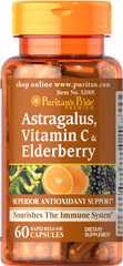 "Astragalus, Vitamin C & Elderberry <ul><li><span style=""font-family:'Arial','sans-serif';color:black;"">Promotes antioxidant health.**</span></li><li><span style=""font-family:'Arial','sans-serif';color:black;"">Vitamin C is one of the leading vitamins for immune support.**</span></li><li><span style=""font-family:'Arial','sans-serif';color:black;"">Astra"