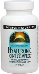 Hyaluronic Joint Complex™ with Glucosamine, Chondroitin and MSM <p><strong>From the Manufacturer's Label:</strong></p><p><strong>Hyaluronic Joint  Complex™</strong> is a comprehensive formula that contains hyaluronic acid with glucosamine chondroitin, MSM and manganese ascorbate.  These ingredients are important  building blocks for healthy joints and connective tissues.  Hyaluronic acid is a major component of joint tissue.  It helps to hold lubrica