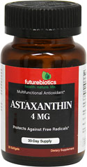 Astaxanthin 4 mg <p><b>From the Manufacturer's Label:</b></p> <p>Astaxanthin 4 mg is manufactured by Futurebiotics.</p> 30 Softgels 4 mg $11.49