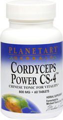 Cordyceps Power CS-4 800 mg <p><strong>From the Manufacturer's Label:</strong></p><p>Cordyceps sinensis is one of the most valued tonics of Chinese herbalism.  In China, it is recognized as a premier tonifier for athletes and anyone wanting to support energy and endurance.**  Planetary Herbal Cordyceps Power CS-4™ combines cordyceps standardized extract with other tonifiers from around the world.</p><p>Manufactured by Planetary Herbals.</p> 60