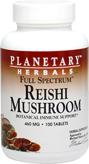 Full Spectrum™ Reishi Mushroom 460 mg <p><b>From the Manufacturer's Label </b></p> <p>Full Spectrum™ Reishi Mushroom  460 mg is manufactured by Planetary Herbals.</p>    100 Tablets 460 mg $14.99