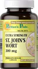 Extra Strength St. John's Wort 300 mg St. John's Wort has been used for centuries as a tonic and is clinically  proven to promote mental well-being and peaceful mood.** 200 Capsules 300 mg $6.99