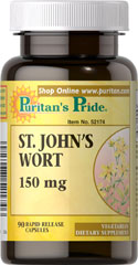 St. John's Wort Extract 150 mg St. John's Wort has been used for centuries as a tonic and is clinically proven to promote mental well-being and peaceful mood.**   St. John's Wort can help maintain a positive mood and is perfect for anyone experiencing occasional anxiety and everyday stress.** 90 Capsules 150 mg $3.99