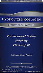 Hydrolyzed Collagen plus Co Q-10  10 Packets 10000 mg/10 mg $36.99