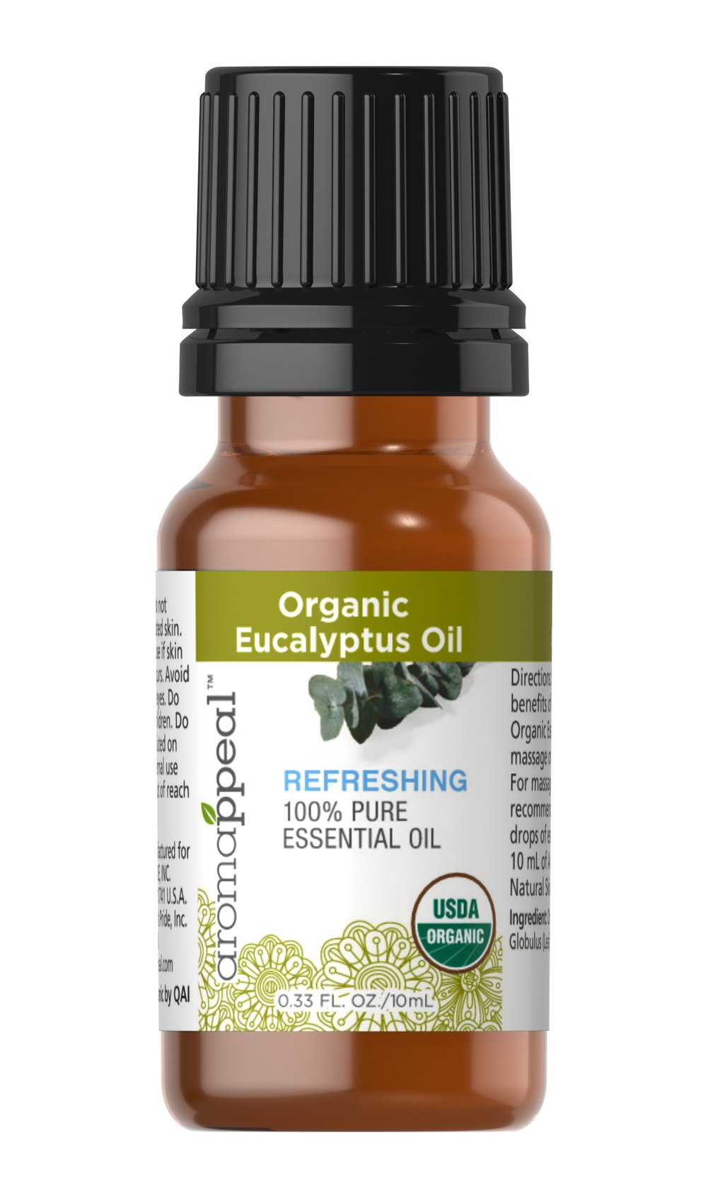 Organic Eucalyptus Oil <p><strong>NEW! Organic Aromappeal - USDA</strong><br /><br />Eucalyptus has a powerfully woody, slightly sweet scent that can cultivate your senses and refresh your outlook.<br /></p><ul><li>Traditional Uses: Soothing and rejuvenating.<br /></li><li>    History: Eucalyptus has a powerfully woody, slightly sweet scent that can cultivate your senses and refresh your outlook. O