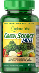 "Green Source® Men's The popularity of ""green foods,"" these days helps reinforce the fact that our diets may be lacking key nutrients found in green foods and other dietary sources. This concentrated formula contains food source nutrients, essential vitamins, minerals, and enzymes— plus herbs, and other naturally occurring active food factors that are carefully blended in a formulation to help men meet their daily nutritional needs. <br /><br />This formula is suita"