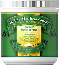Inulin & Oat Beta Glucan  240 grm Powder  $16.99