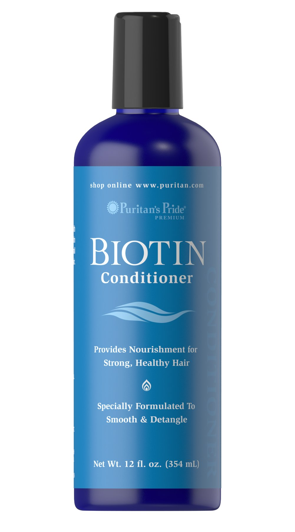 Biotin Condtioner With Puritan's Pride Biotin Conditioner, your hair will be silky smooth and tangle free!  Carefully formulated with Vitamin E and Panthenol our Biotin Conditioner will give your hair healthy body and luxurious shine.<br /> 12 oz Conditioner  $11.99