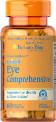 Eye Comprehensive Formula with Lutein <p>Supports Eye Health and Clear Vision**</p> 60 Tablets  $26.99