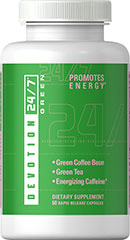 Green Blend with Green Coffee Bean, Green Tea and Caffeine <p><strong>Devotion 24/7™ Green</strong> is a unique supplement combining two of the hottest ingredients on the market—Green Coffee Bean and Green Tea Extract. Each serving gives you a boost of energy to help power through your workouts and stay on track with your healthy lifestyle routine.**<br /><br /><strong>Green Tea </strong>- Green Tea is less processed as compared to Black Tea, which allow