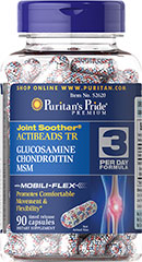 Joint Soother® Time Released ActiBeads Glucosamine, Chondroitin & MSM Joint Soother® Actibeads TR combines choice ingredients in timed release beadlets within each capsule. This specialized formula is  a perfect choice for those seeking nutritional support for joints.** The specialized combination of ingredients in Joint Soother™ may help promote comfortable movement and flexibility so you can continue to stay active throughout your busy day.**