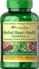 Herbal Heart Health Complex  90 Capsules  $14.99
