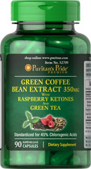 Green Coffee Bean / Green Tea / Raspberry Ketone  90 Capsules  $14.99