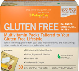 Gluten Free Balanced Nutrition Packs Those following a gluten-free diet may have concerns about meeting their essential nutrient intakes. This multivitamin pack is tailored specifically to your gluten-free lifestyle to help ensure you are getting the nutrients you need. This formula is suitable for vegetarians. <br /><br />Includes: <br />•    Multivitamin with Chelated Minerals<br />•    Calcium, Magnesium & P