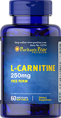 L-Carnitine 250mg Free Form  60 Softgels 250 mg $6.99