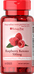 Raspberry Ketones 500 mg <p>Raspberry ketone has a structure similar to capsaicin and synephrine. Capsaicin is the chemical in chili peppers that gives it heat.<br /><br />Raspberry ketone contains both a hydroxyphenyl ring and a ketone structure. A ketone structure can be found in ketone bodies, which are by-products when fatty acids are broken down for energy. <br />Our Raspberry Ketones are highly concentrated. Each serving of this dietary supplement contains 500 mg of