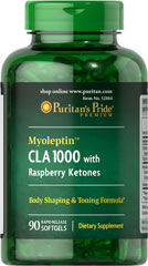 Myoleptin™ CLA 1000 mg with Raspberry Ketones 125 mg  90 Softgels 1000 mg/125 mg $3.99