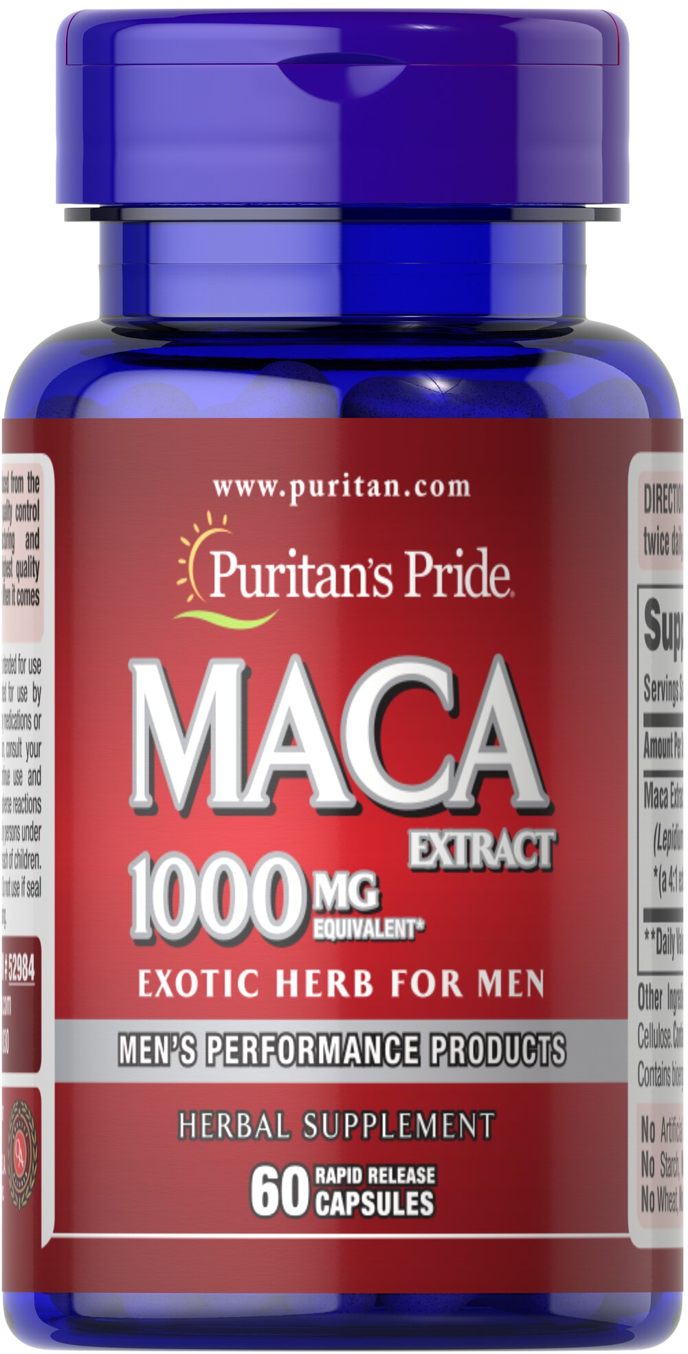 Maca 1000 mg Exotic Herb for Men  60 Capsules 1000 mg $12.29