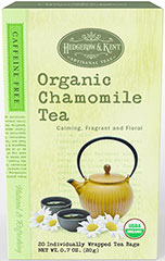 "Organic Chamomile Tea <p>Treat yourself to a refreshing cup of all-natural Hedgerow & Kent Artisanal Tea. We only use the finest, freshest leaves and herbs to ensure that each cup of tea is as pure as it is delightful. Hedgerow & Kent Artisanal Teas are ""steeped"" in tradition. Their soothing qualities and satisfying flavor embody all the benefits that tea drinkers first discovered in Asia centuries ago.</p><p>With its rich harvest tones and delicate fl"