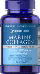 Marine Collagen with Hyaluronic Acid  120 Capsules  $24.99