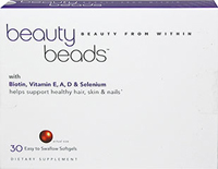 Beauty Beads <p>These beauty beads contain key nutrients that help nourish your beauty from the inside out.**</p><p>Vitamin A contains antioxidant properties that help fight free radicals in the body.**</p><p>Vitamin D3 is a potent and active form of Vitamin D. <span>D3 supports the immune system.** </span>Vitamin D may decrease as we age. Low Vitamin D levels can be affected by many factors including sun exposure, use of sunscreen products and living in
