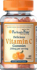 VITAMIN C GUMMIES 250MG  60 Gummies 250 mg