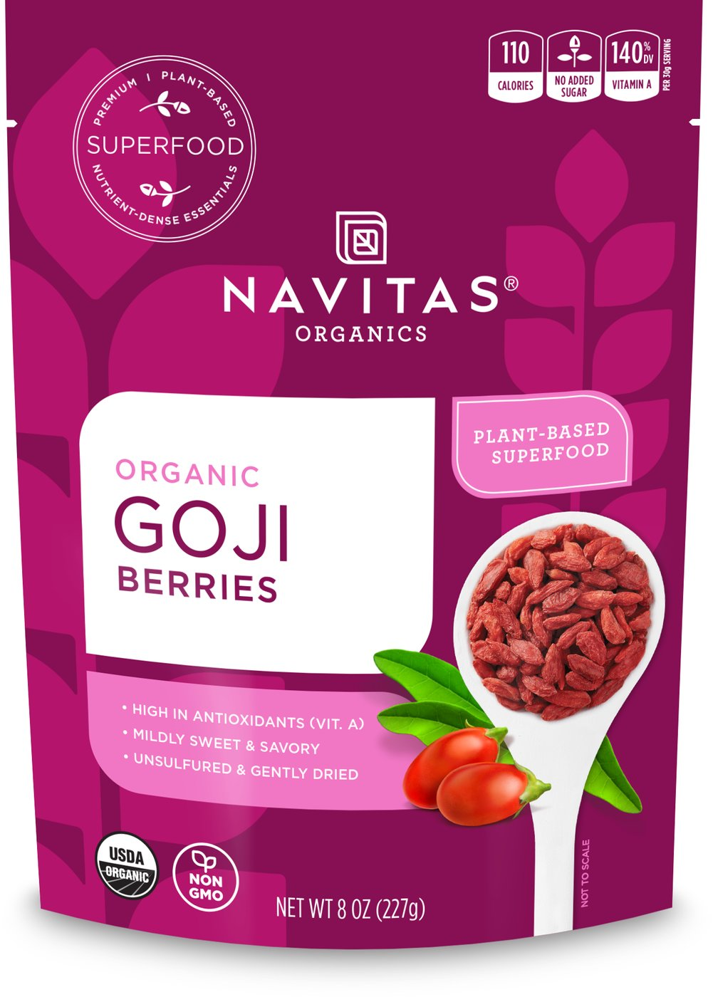 Organic Goji Berries <p><strong>From the Manufacturer:</strong></p><p><strong></strong>Goji Berries are a nutritionally-rich fruit, providing a healthy boost to your diet. Try tossing in your oatmeal, yogurt, smoothies, and other delicious recipes.<br /></p><ul><li>Good Source of Vitamin A<br /></li><li>Good Source of Fiber</li></ul> 8 oz Bag  $9.99