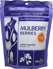 Organic Mulberry Berries <p><strong>From the Manufacturer: </strong></p><p><strong></strong>Natural dried mulberries are a good source of many nutrients. Mulberries are a compound fruit, like raspberries and blackberries, and have a mild flavor. Eating just a couple can be great for your health. Just a serving contains significant amounts of Vitamin C, dietary fiber, iron, and protein. In addition, mulberries contain anthocyanins, a key group of antioxid