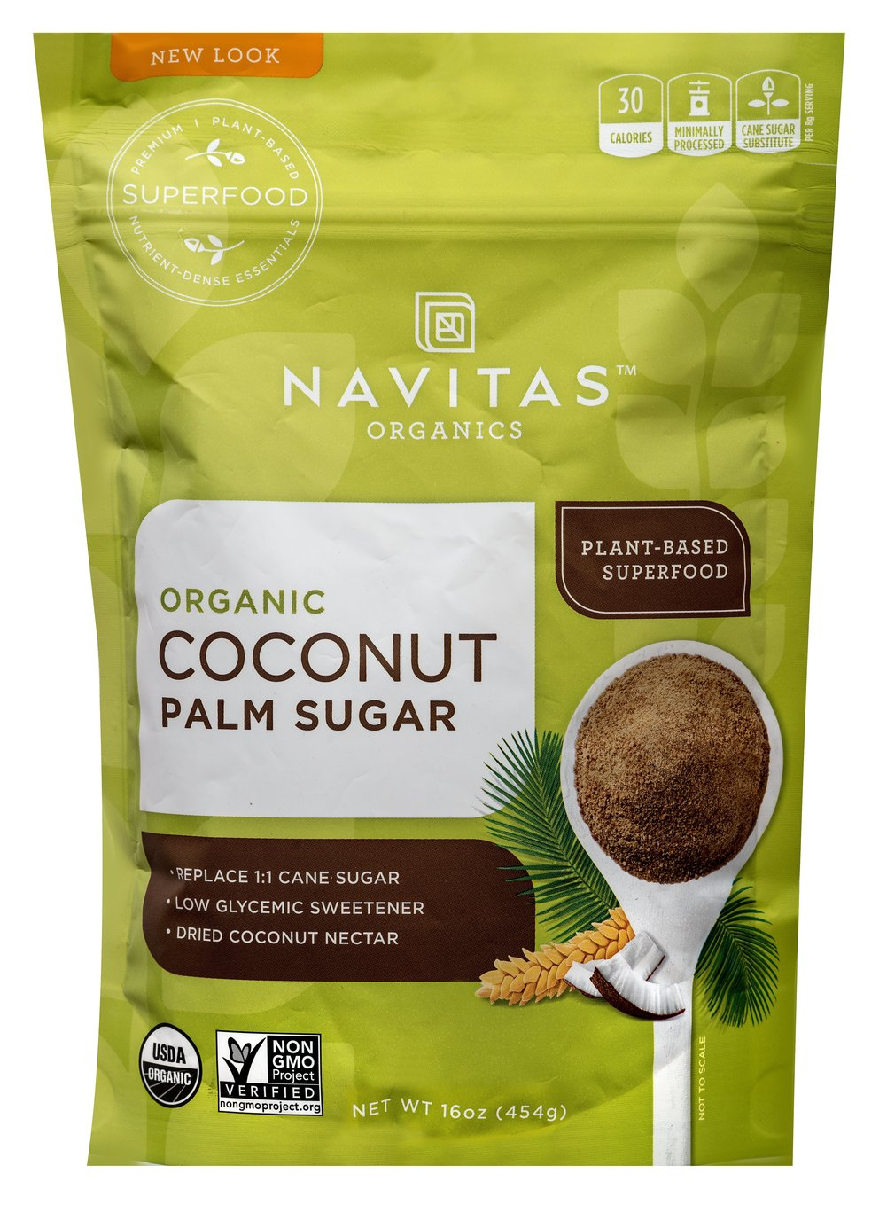 Organic Coconut Palm Sugar  16 oz Bag  $13.99