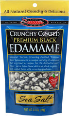 Crunchy Coated Black Edamame <p><strong>From the Manufacturer:</strong></p><p><strong></strong>This high protein, heart-healthy snack features premium black edamame tossed with a crunchy, sweet and salty coating.</p><ul><li>Gluten-Free</li></ul> 4 oz Bag  $2.49