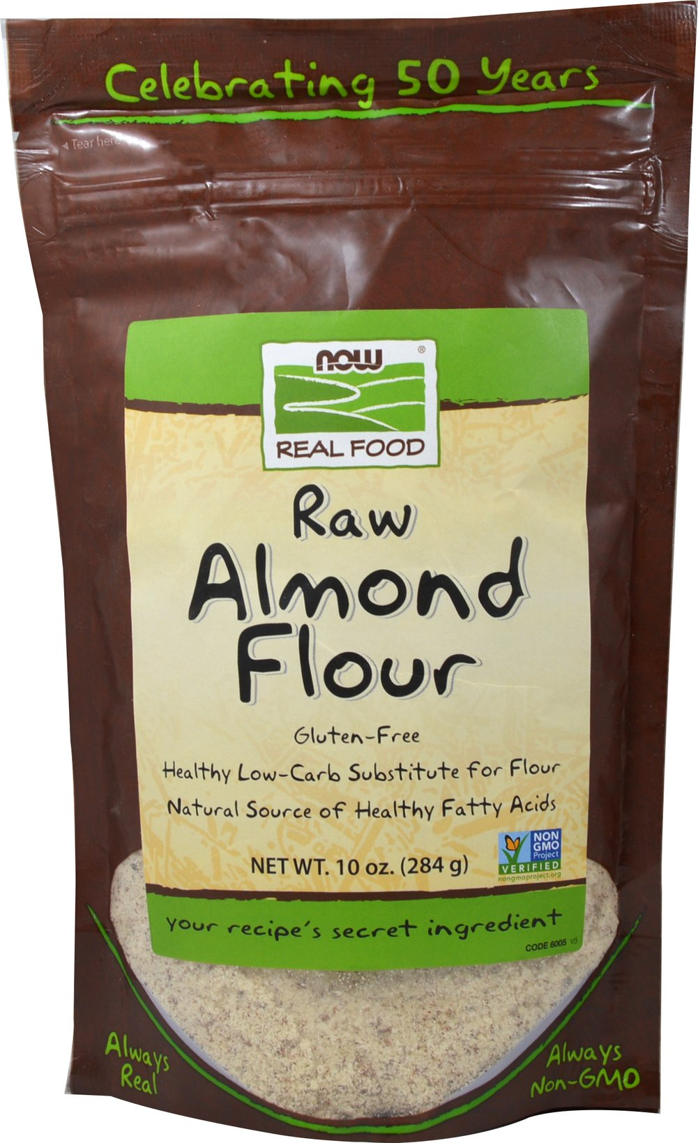 Almond Flour <p><strong>From the Manufacturer: </strong></p><p>Now Foods Almond Flour is an unblanched, gluten-free flour that is an excellent low-carb substitute for other flours used in baking, either wholly or in part. With Almond Flour, you can add color, texture, richness, and flavor to your baked goods as well as everyday meals.</p> 10 oz Bag  $9.99