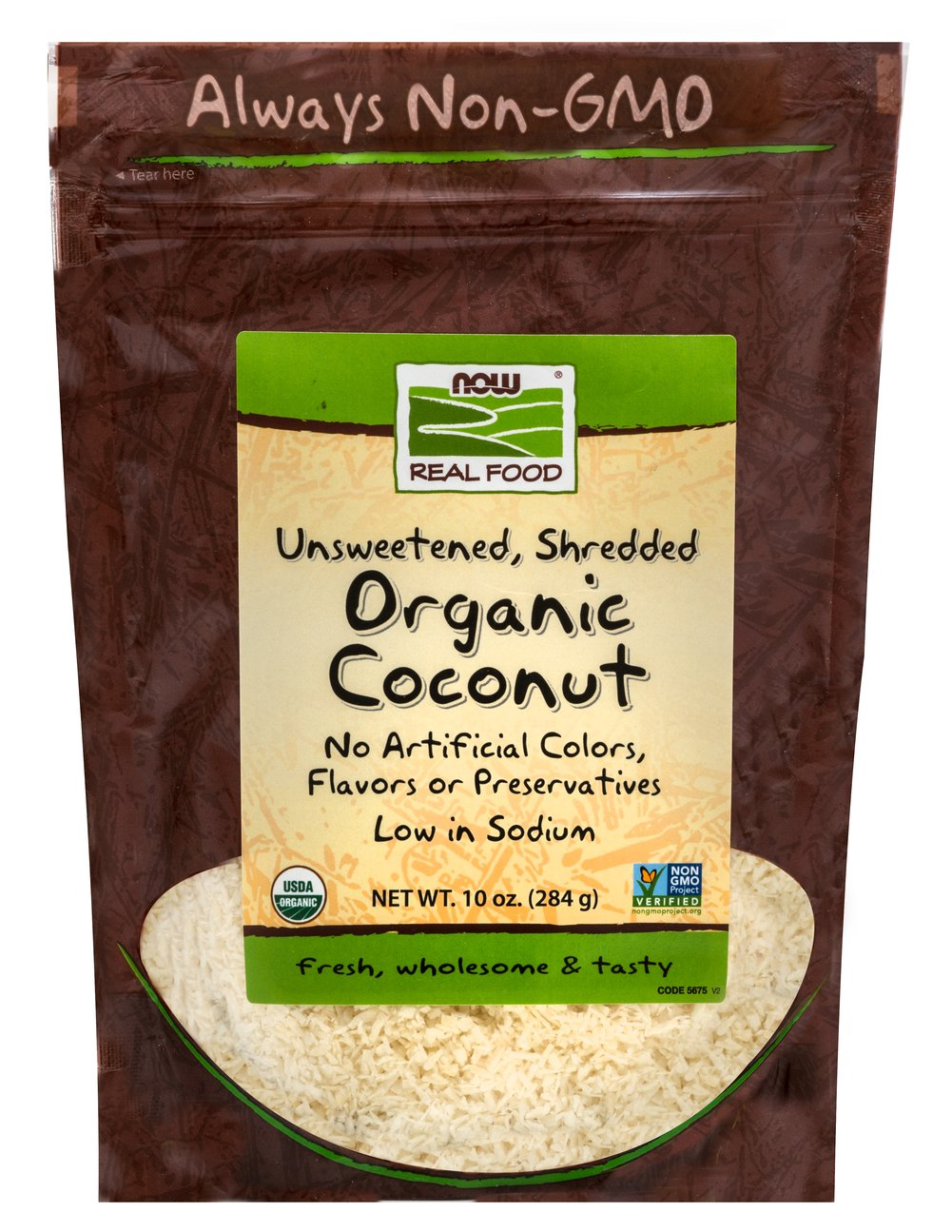 Organic Shredded Coconut <strong>From the Manufacturer: </strong>Naturally Sweet, Now Foods shredded coconut is perfect for baking, as a dessert or in granola. 10 oz Bag  $7.99